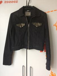 Levi strauss - black denim jacke - gr. s