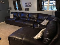 Brown leather sectional Baltimore, 21220