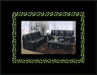 U6900 black bonded leather sofa and loveseat Ashburn, 20147