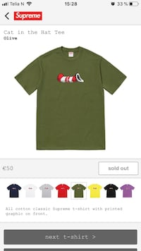 Supreme Cat in the hat Tee 6244 km