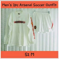 MENS 2PC ARSENAL SOCCER OUTFIT SIZE M Ontario, 91762