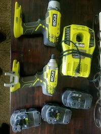 Two Ryobi drills, three batteries and charger  Meridian, 83646