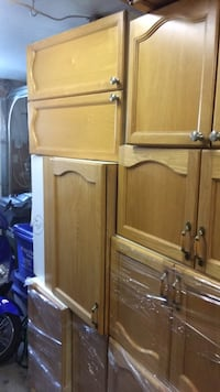 real wood oak kitchen cabinets set