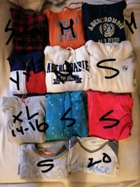 Bench, Abercrombrie, Roots, Tommy, Nike, Hollister sweaters