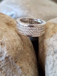 STAINLESS STEEL CUBIC ZIRCONIA RING SIZE 8 Mississauga