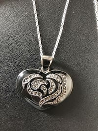Brand new Black Onyx heart-shaped necklace w/crystals.  Valued at $270.  Asking $100obo.... lowered to $85obo Hummelstown, 17036
