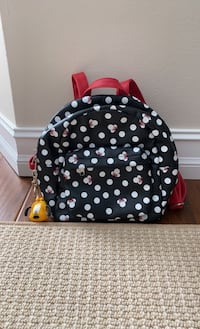 Minnie Mouse Backpack with additional Goofy coin keychain