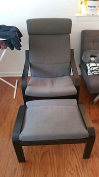 IKEA Poang grey and foot rest Princeton, 08540