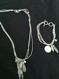 Silver necklace and bracelet....never worn.