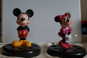 Mickey Mouse and Mini mouse figurines