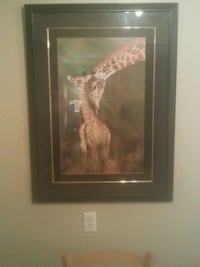 3ft x 2ft Gorgeous Giraffe Picture $40 picked up Edmonton, T5H 1X6