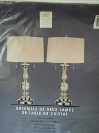 two silver-colored table lamps Abbotsford, V4X 1M3
