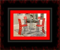 Red counter height table with 4 chairs Rockville, 20847