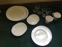 white ceramic plates and bowls Waldorf, 20601