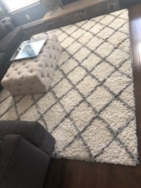Grey and Ivory Area Rug (8x10)