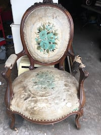 Antique chair, frame good condition, just need reupholstered!! Please make an offer and take it home NOW Pasadena, 91104