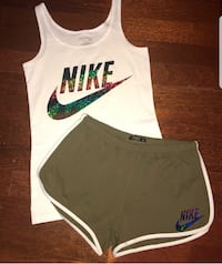 white and green Nike tank top null