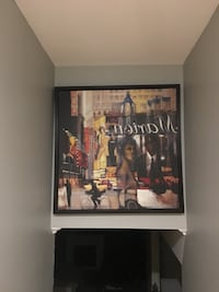 black wooden framed painting of people Grimsby, L3M 1W2