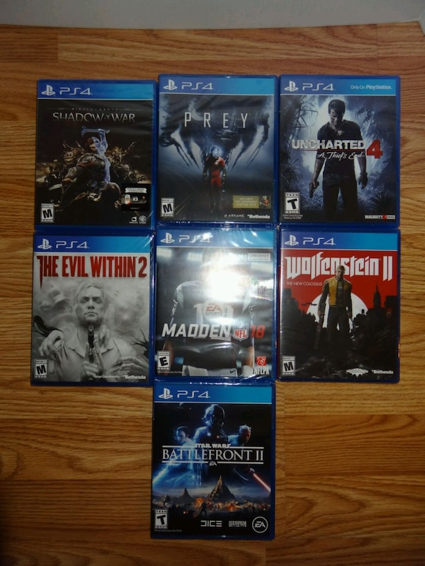 3 Brand new sealed ps4 PlayStation 4 games