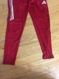 Red and white adidas track pants Toronto, M2M