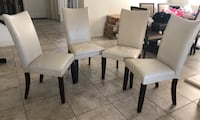 4 used but ok condition kitchen chairs  Las Vegas, 89138