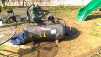 Commercial industrial air compressor made by Dayton