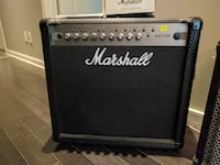 black and grey Marshal guitar amplifier Calgary, T3M