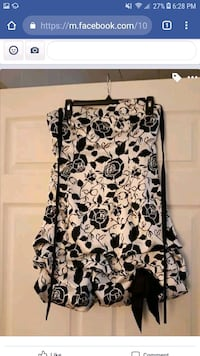 black and white floral scoop-neck shirt Hagerstown, 21740