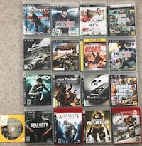 Assorted sony ps3 game in cases Burnaby, V5C 2Z4