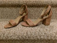pair of brown leather open-toe wedges Woodbridge, 22193