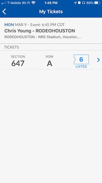 Chris Young Rodeo Tickets - $15