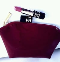 Estee lauder cosmetic bag and lipstick