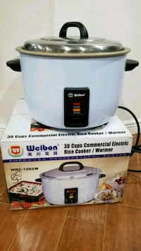 Two New Welbon 30 Cups Commercial Electric Rice Co Lowell, 01851