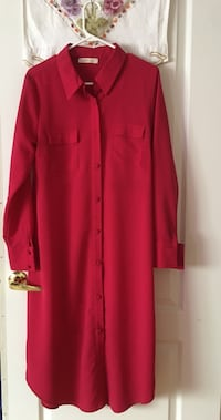 red button-up long-sleeved dress Vaughan, L4H 3L3