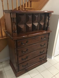 brown wooden 5-drawer dresser Mississauga, L5L 5L2