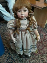 girl in white and blue dress doll Louisville, 40203