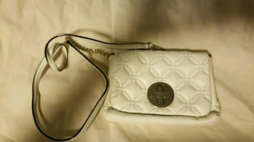 Quilted white  leather crossbody bag