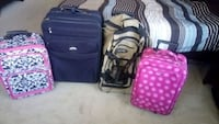 4 luggage pieces for $50. 2 wheels. All works Allen