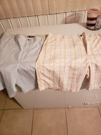 white and brown plaid shorts 43 km