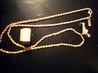 Plated gold rope chain w/ shoe pendant and ring Oklahoma City, 73159