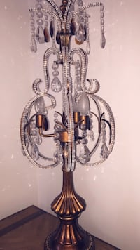 Bronze & Glass uplight chandelier with 2 matching table lamps! Brampton, L6P 3N4