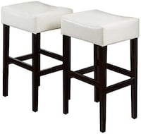Christmas Blowout Sale NOBLE HOUSE JULIE IVORY LEATHER BAR STOOLS