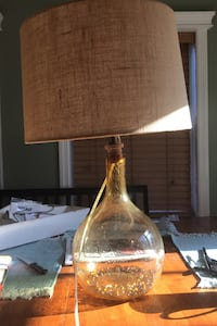 Lamp with burlap shade cover  West Babylon, 11704