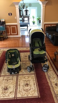 baby's black and green travel system Falls Church, 22042