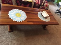 brown wooden floral print table Alexandria, 22303