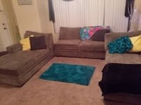 Gray cushioned chaise longues and loveseat.   762 mi