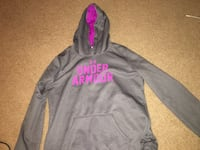 Black and Purple Under Armour pullover hoodie