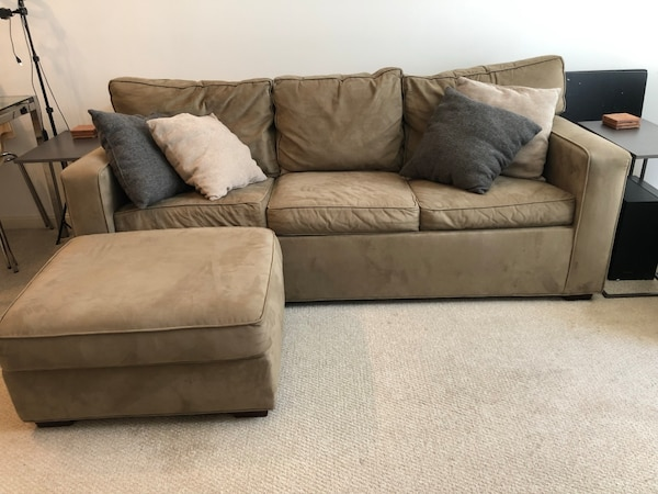 Pottery Barn Sleeper Sofa & Ottoman