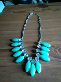 silver-colored and teal beaded necklace Akron, 44314