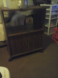 black and gray wooden TV hutch Pasadena, 91107